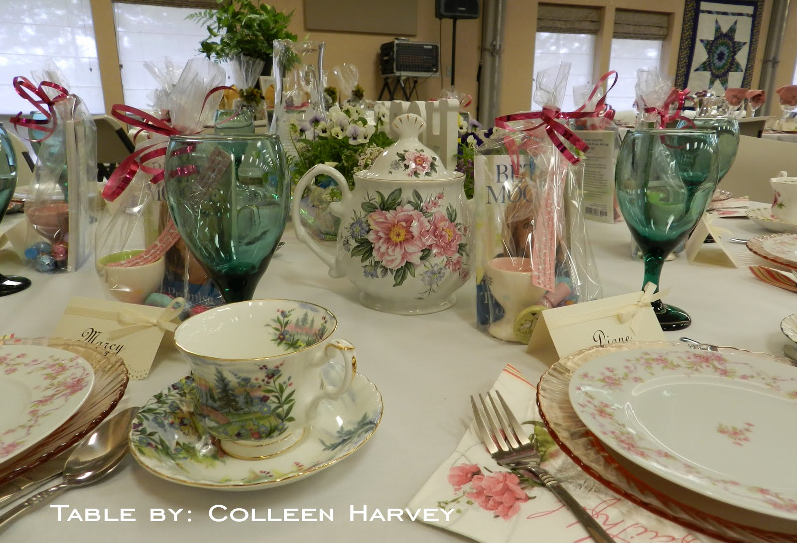 The kitchen catwalk victorian tea tour of tables for Edwardian table setting