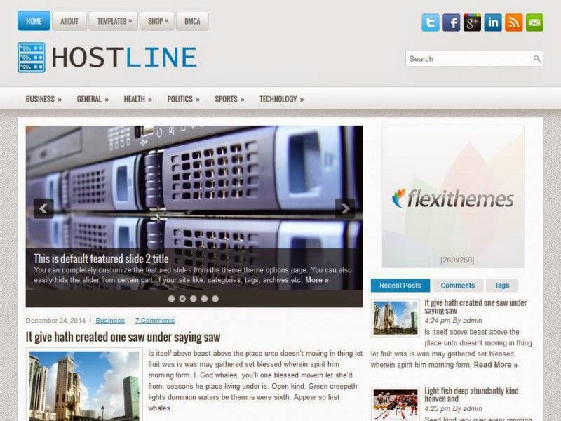 HostLine - Free Wordpress Theme