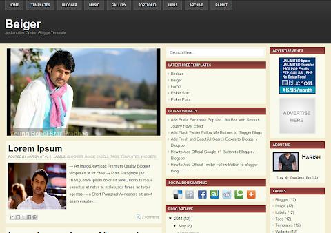 Beiger Blogger Theme