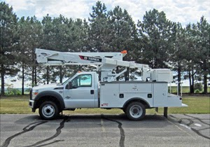 Terex used bucket trucks for sale