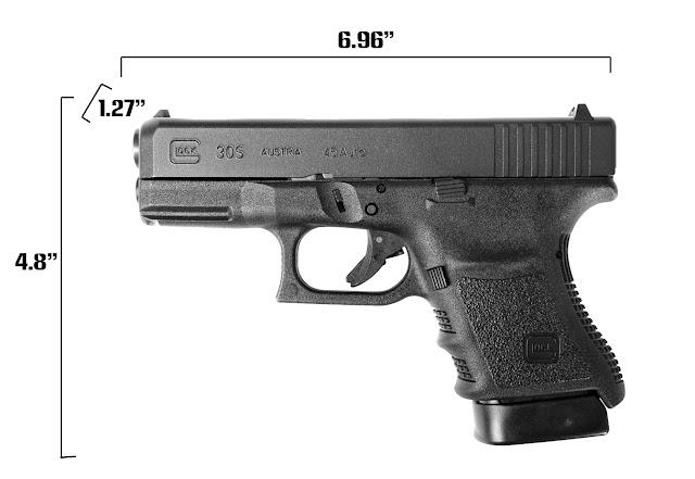Glock 30s Measurements, glock 30s size, glock 30s