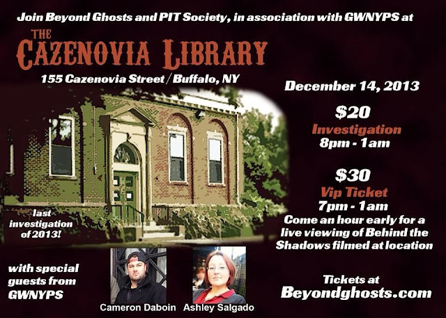 http://www.beyondghosts.com/events.shtml