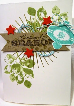 Christmas in July class - stamp set from the 2014 - 2015 Stampin Up catalogue