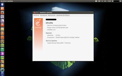Un Acer Aspire 5715z tournant sous Ubuntu 12.04 LTS