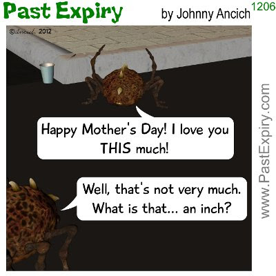 Cartoon about insects, kids, Mother's Day, relationships,