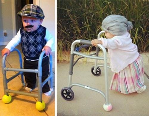 Disfraz abuelos fantasia avós