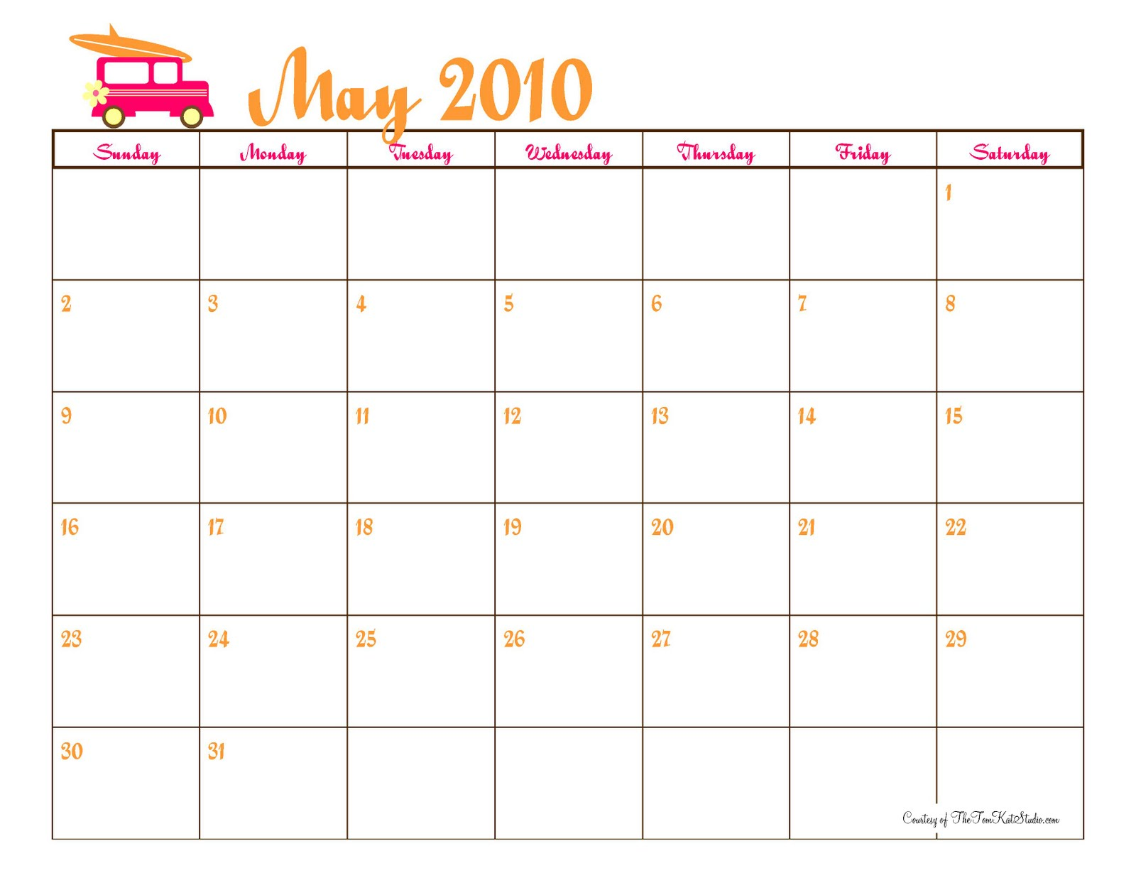 printable monthly calendar 2010 Download free printable monthly