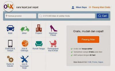 Tampilan Design Baru Situs Jual Beli OLX.co.id