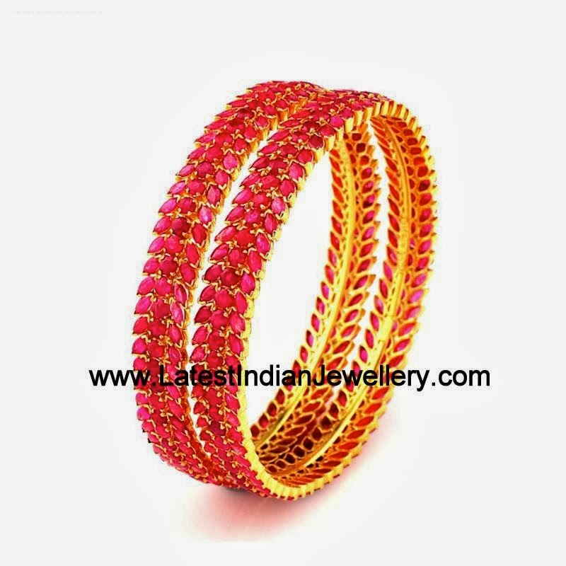 Exquisite Ruby Bangles