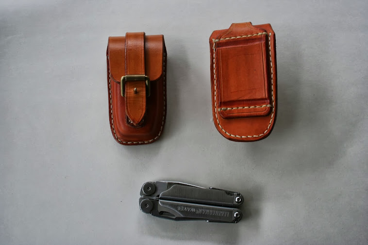 'Aussie' inspired belt pouches for Leatherman Wave
