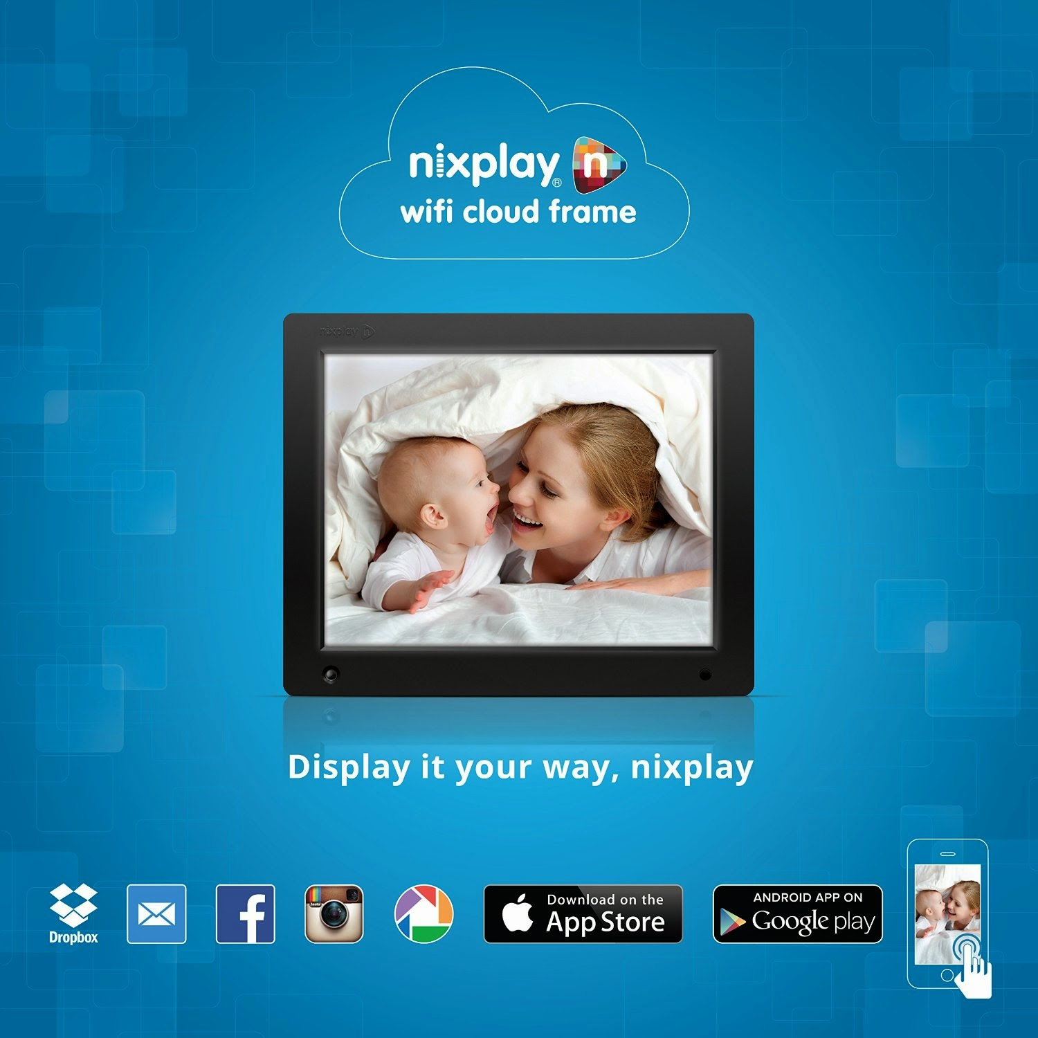 nixplay 12 wi fi cloud digital photo frame w12a
