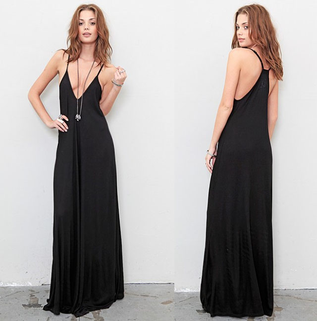 long black maxi, pharoah dress