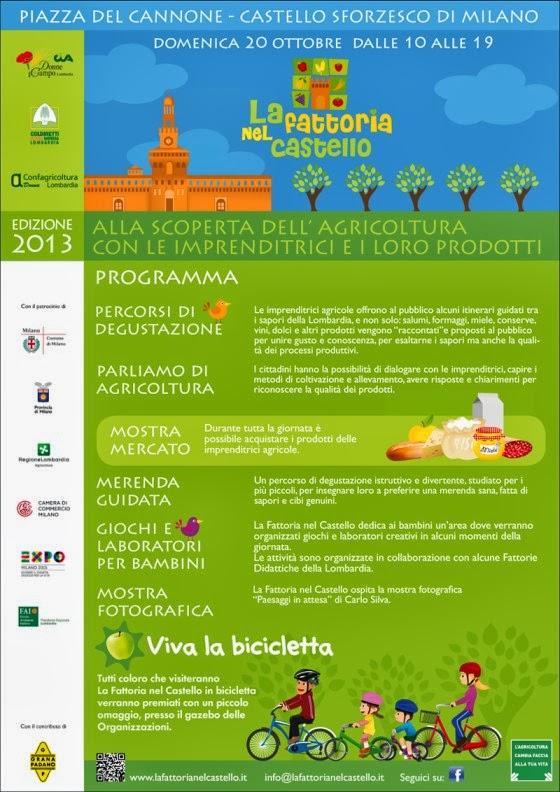 Eventi a Milano domenica 20 ottobre: degustazioni e laboratori per bambini al Castello Sforzesco