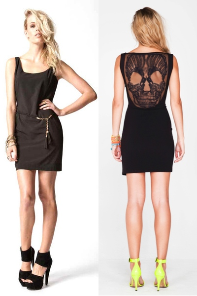 Skull Dress - Noir -- Premonition Designs
