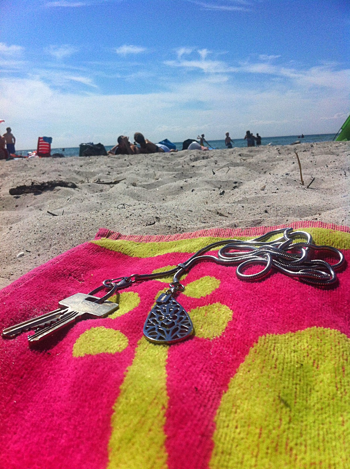 Key chain for the beach