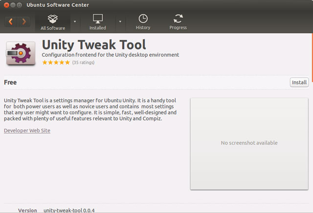 Ubuntu 13.04 - Unity Tweak Tools