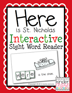 """Here is St. Nicholas"" FREE emergent reader"