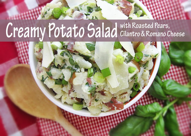 Creamy Potato Salad with Roasted Pears, Cilantro and Romano Cheese for ...