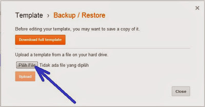 Cara Backup dan Restore Template blog kembali seperti semula