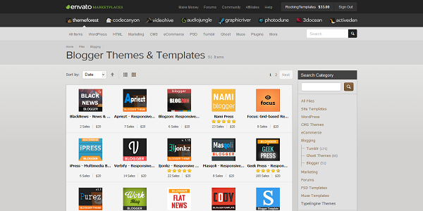 Blogger Templates Themeforest