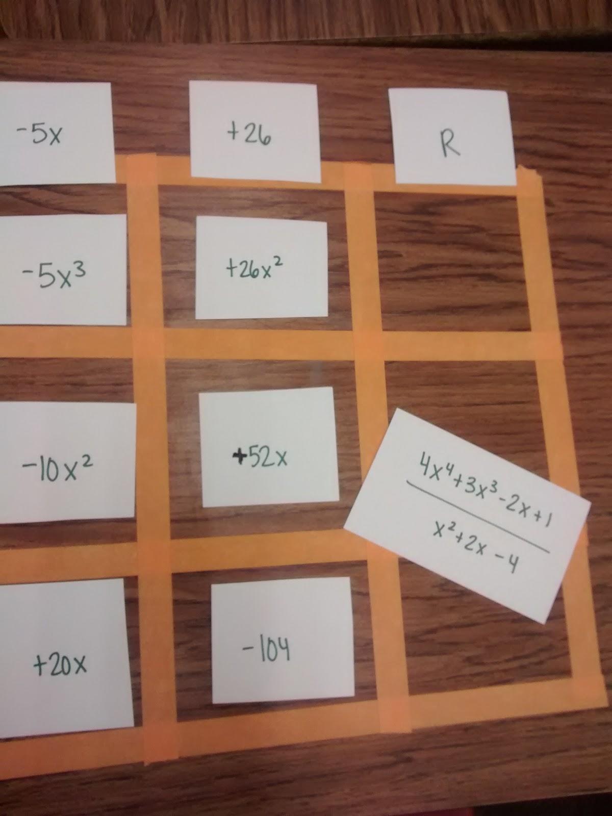 Multiplying and dividing polynomials worksheet kuta software