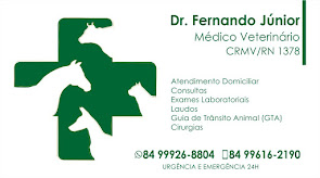 Caraúbas e Região agora conta com atendimento Veterinário do Dr. Fernando Júnior