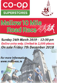 Mallow 10 mile in Cork - Sun 24th Mar 2019