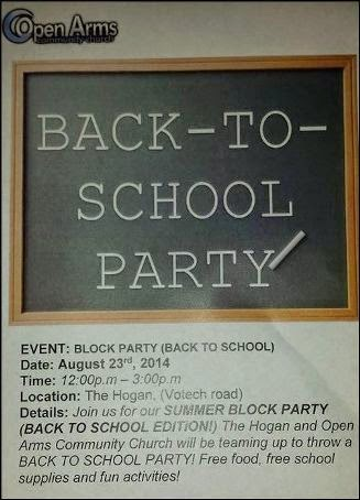 8-23 Back To School Party