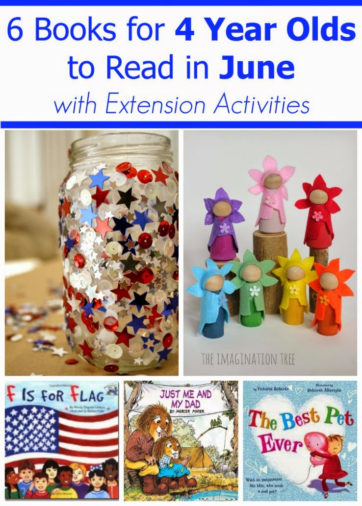 june books for 4 year olds with extension activities for each book - Activity Books For 4 Year Olds