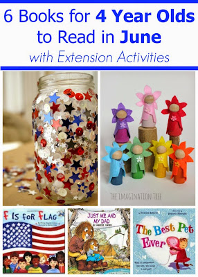 June Books for 4 Year Olds with Extension Activities for each book