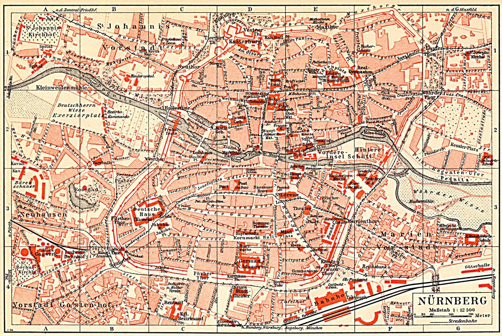 City map Nurnberg