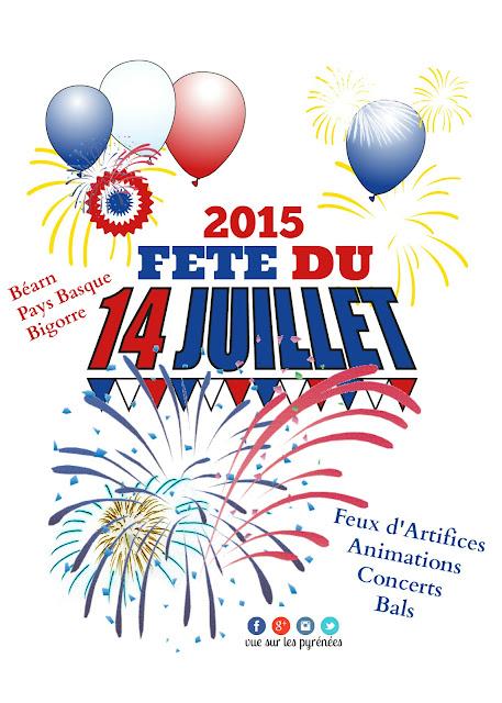 Fêtes du 14 juillet 2015  Fête nationale Béarn Pays basque bigorre
