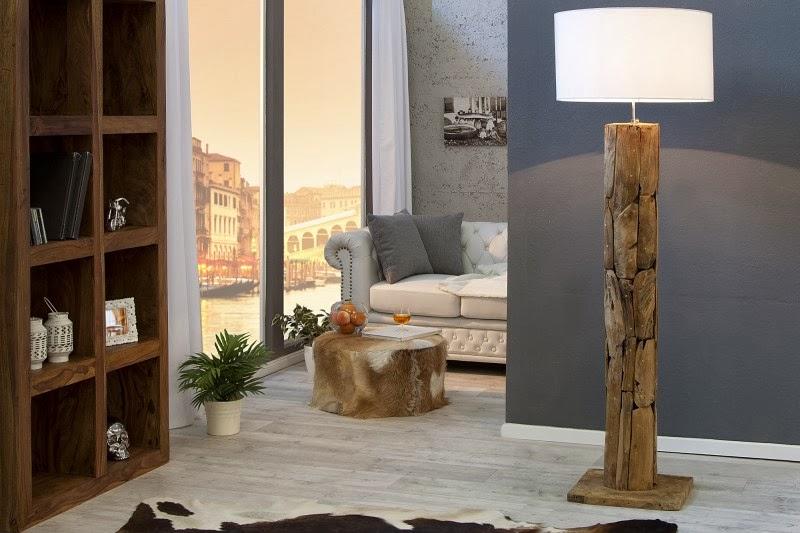 stojanove lampy a svietidla, luxusne interierove lampy, lampa z masivu, drevena lampa, lampa na zem