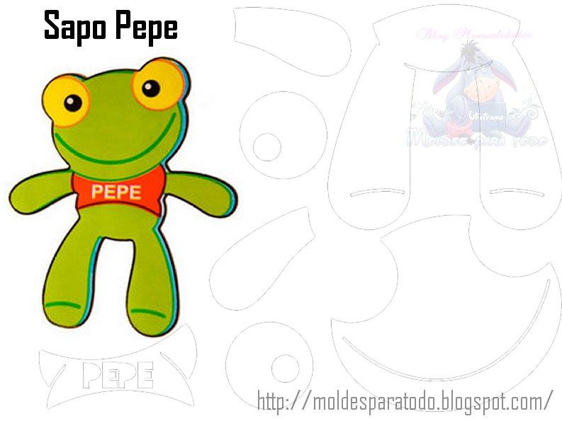 Moldes De        Dibujos A C         Sapo Pepe