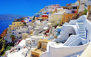 Greek islands Santorini traditional
