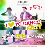 NYC: Friday, Nov 21 'I Love to Dance' Party 10pm