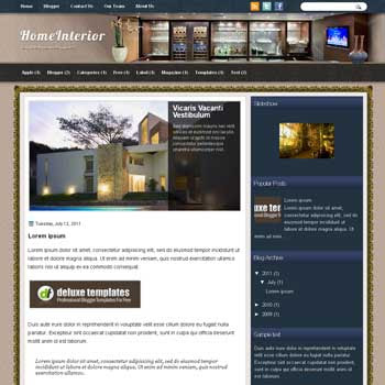 HomeInterior blogger template. template blogspot magazine style. download template home interior blogger template