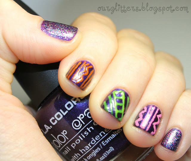 The Fascinating Colorful aztec nail designs Image