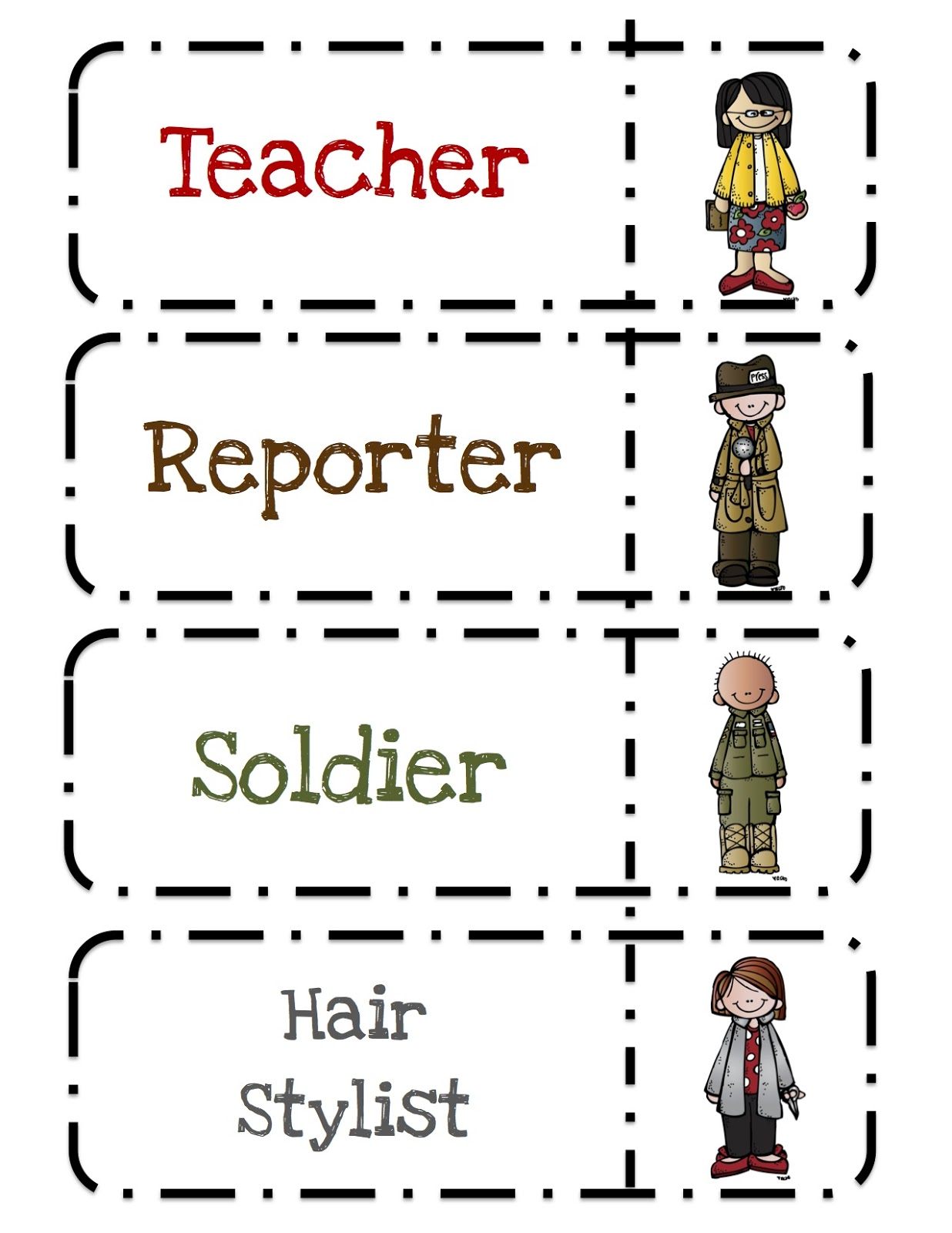 Community Helpers Printable 2 ~ Preschool Printables