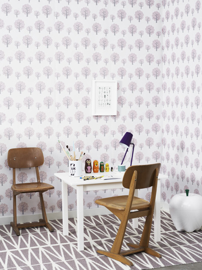 Ferm Living Tapete Harlequin : Ferm Living Harlequin Rose