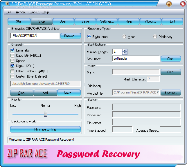 برنامج  ZIP-RAR-ACE-Password-Recovery