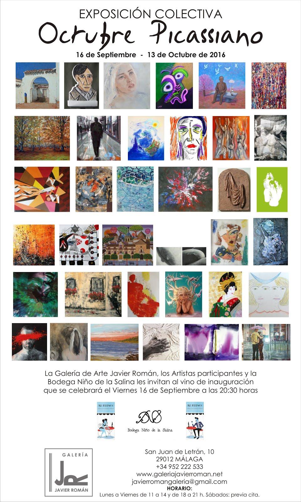 Exposición Octubre Picassiano Galería de Arte Javier Román.Málaga