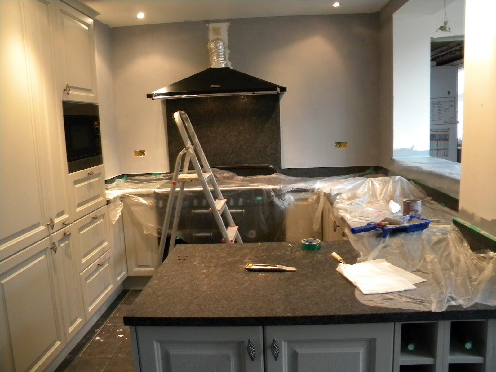 Bizzy martine afgelopen dagen - Keukenmuren schilderen ...