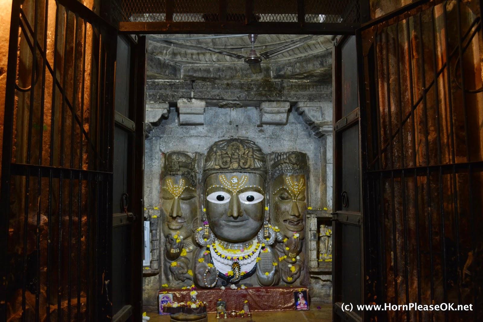 Brahma Vishnu Mahesh in Chittorgarh Fort