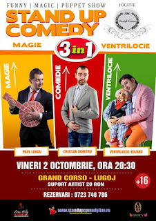 Stand-Up Comedy Magie si Ventrilocie Vineri 2 Octombrie Lugoj