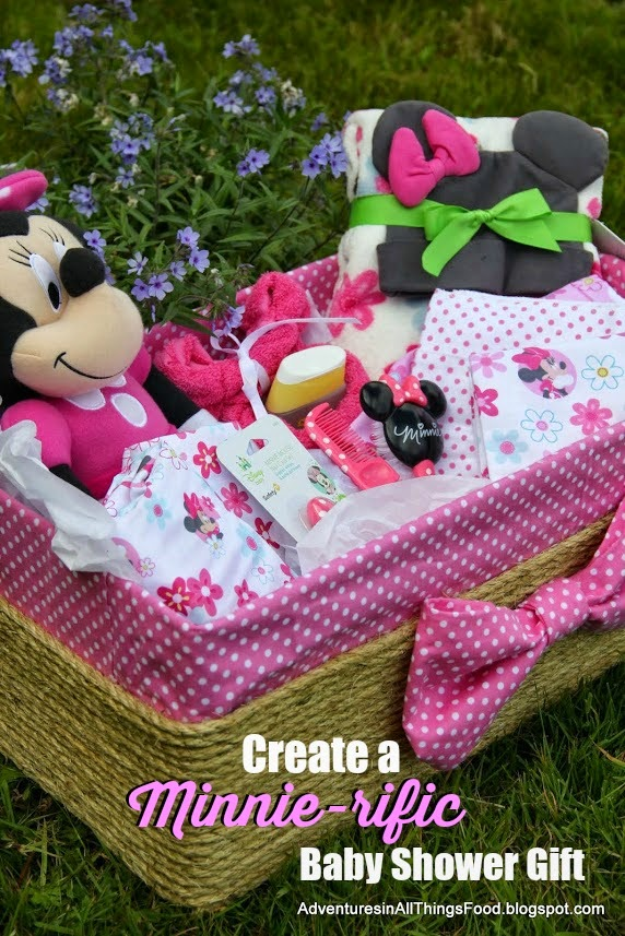 Adventures In All Things Food Baby Shower Gift Basket With Disney Baby