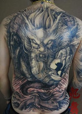 Full Back Dragon Tattoos