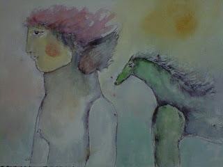 Hombre y caballo - Juan Carlos Mestre