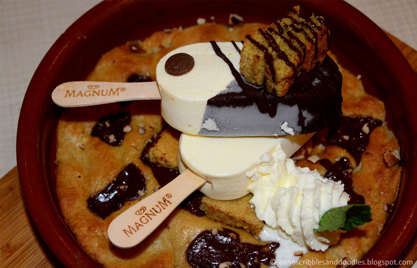 Magnum Manila: Special Dessert Menu (Cookie Dough Skillet)