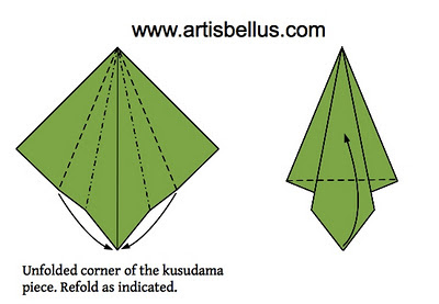 Christmas Card - Kusudama Tree